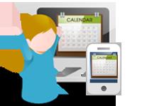 イベントカレンダー自動発信サービスのイメージ