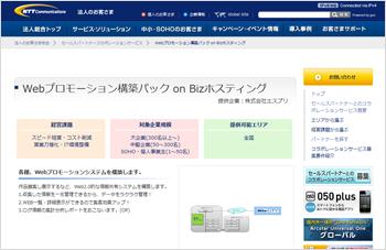 Webプロモーション構築 パック on Bizホスティング