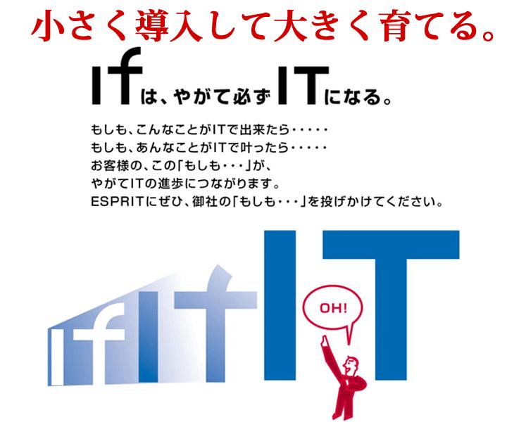 エスプリが提供するITのイメージ画像 IFからITへ